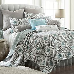 Levtex Home Aisha Reversible Quilt Set in Teal