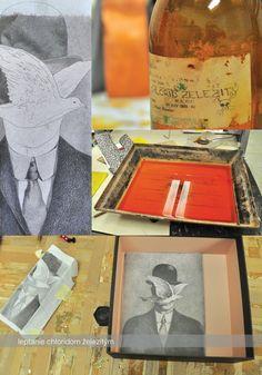 Magritte Stamps by Daniela Brunovská, via Behance
