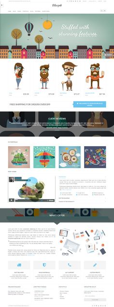 Blaszok - Ultimate WP Theme by Themes Awards, via Behance by alexandra Website Design Layout, Web Layout, Layout Design, Website Designs, Ui Web, Responsive Web Design, Ux Design, Flat Design, Design Ideas