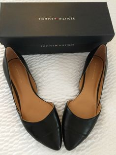add1b46e6 Tommy Hilfiger Womens Naria 2 Leather Pointed Toe Ballet Flats