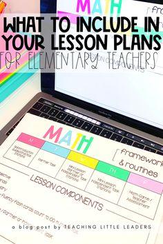 Lesson Plans For Elementary, Elementary Teaching Ideas, Writing Lesson Plans, Kindergarten Lesson Plans, Lesson Planning, Student Teaching, Elementary Education, Lesson Plan Organization, Teacher Organization