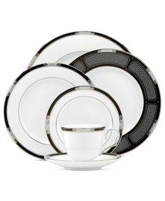Lenox Dinnerware, Hancock Platinum White