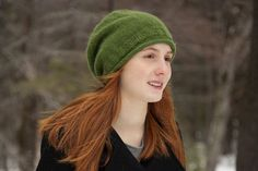 Free+Knitting+Pattern+-+Hats:+Fresco+Simple+Slouchy+Hat