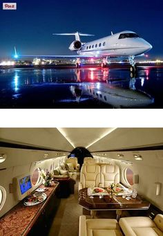 Joseph A- Owning a private jet is part of being a millionaire as well. Jets Privés De Luxe, Luxury Jets, Luxury Private Jets, Private Plane, Rolls Royce, Avion Jet, Gulfstream Iv, Private Jet Interior, Luxury Interior