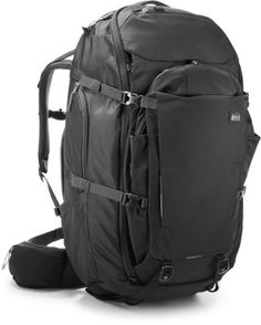 5727636769a REI Co-op Ruckpack 65 Travel Pack Black S Rei Backpacks, Travel Packing,