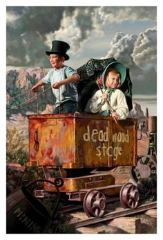 The Deadwood Stage Print by Bob Byerley
