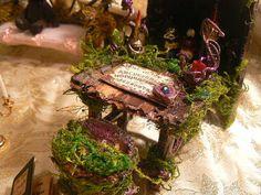 Handmade Fairy Ouija Board Desk & Stool Made by MyMagickalForest @cearha