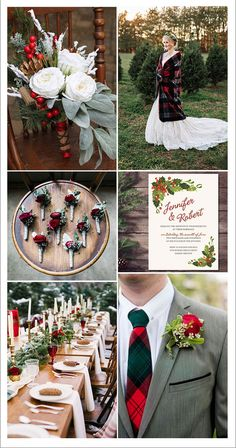 buffalo plaids and grey christmas winter weddings fall wedding boquets / fall wedding boquette / fall wedding koozie / fall wedding flowers / fall wedding pallettes Wedding Venue Inspiration, Wedding Themes, Wedding Events, Wedding Decorations, Wedding Ideas, Wedding Centerpieces, Wedding Cakes, Plaid Wedding, Fall Wedding