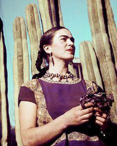 Cactus y Frida Kahlo