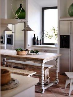 Table - Kitchen at Castello di Reschio Italian Farmhouse, Rustic Italian, Italian Home, Italian Villa, Italian Style, Country Interior, Country Decor, Modern Country, French Country