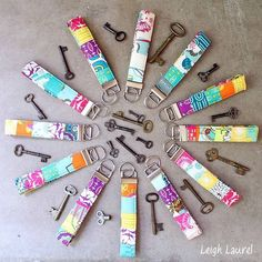 76 Crafts To Make and Sell - Easy DIY Ideas for Cheap Things To Sell on Etsy, Online and for Craft Fairs. Make Money with These Homemade Crafts for Teens, Kids, Christmas, Summer, Mother's Day Gifts. |   Colorful Key Fobs  |  diyjoy.com/crafts-to-make-and-sell