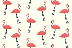 Free Flamingo Bird Seamless Pattern Preview