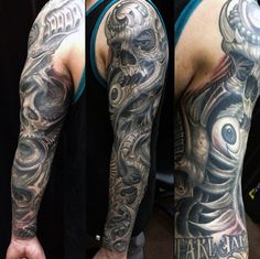 50 Skull Sleeve Tattoos For Men – Masculine Design Ideas – Food recipes Small Celtic Tattoos, Small Chest Tattoos, Full Back Tattoos, Red Heart Tattoos, Black Ink Tattoos, Skull Sleeve Tattoos, Best Sleeve Tattoos, Cute Thigh Tattoos, Bio Organic Tattoo
