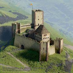 Medieval World, Medieval Town, Medieval Castle, Romanesque Architecture, Ancient Architecture, Architecture Art, Fantasy Castle, Fantasy House, Beautiful Castles