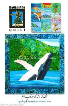 Humpback Whale Tropical Batik Applique Quilt Pattern   eBay