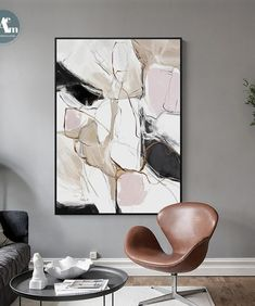 Modern Abstract Beautiful Colorful pink Canvas Painting Wall Art for living room Nordic Print Scandinavian Decoration Picture Abstract Wall Art, Canvas Wall Art, Canvas Prints, Types Of Art Styles, Scandinavian Style Home, Decorating With Pictures, Inspirational Wall Art, Beige Walls, Wall Art Pictures