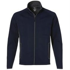 polyester / spandex bonded with polyester anti-pill fleece. Features inside storm placket with fleece chin guard, center front reverse coil autolock zipper with reflective toggle. Knitted Jacket Mens, Knit Jacket, Corporate Outfits, Corporate Gifts, Promotional Clothing, Polar Fleece, Urban Fashion, Jackets For Women, Winter Jackets