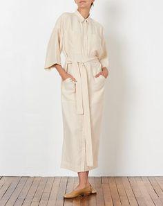 Mara Hoffman Amelia Shirt Dress in Cream