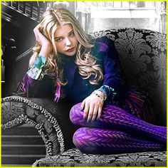 Pantyhose Night Wolf | Chloe Moretz wears bold purple tights in this new poster for Dark ...