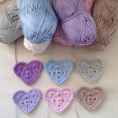 Crochet hearts. I will get this translated.  It is in German but the flowers have photos almost good enough to copy without the instructions.