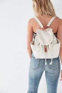 3b974b8a3 Urban Outfitters Washed Canvas Drawstring Backpack Backpack Bags,  Drawstring Backpack, Leather Backpack, Fashion