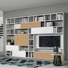Unique, luxury 'Wood' TV Unit by Dall'Agnese