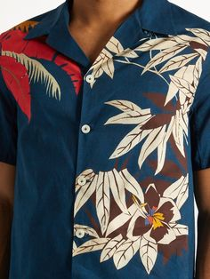Valentino Tropical-print cotton shirt