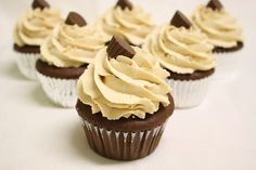 To Bake or Not to Bake: Chocolate Peanut Butter Cupcakes w/ resees peanut butter cup in the center