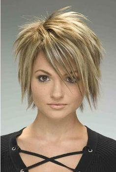 Short, choppy hair cuts are cool and modern!