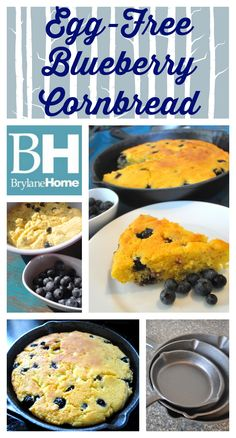 The Food Hussy!: Recipe: Egg-free Blueberry Cornbread & Cast Iron from BrylaneHome