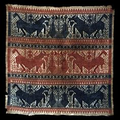 Paminggir Indonesia, South Sumatra, Lampung Ceremonial Cloth (tampan), century Cotton, plain weave with supplementary patterning wefts 71 x cm x 27 in. Fabric Rug, Textile Fabrics, Sarongs, Art Institute Of Chicago, Textile Design, Ikat, Bohemian Rug, Weaving, Cross Stitch