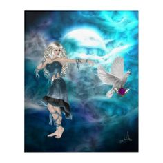 Shop Fantasy Sky Siren Moon Goddess Acrylic Print created by WhimsicalArtwork. Personalize it with photos & text or purchase as is! Gothic Vampire, Vampire Art, Fantasy Gifts, Acrylic Wall Art, Moon Goddess, Purple Roses, Faeries, Elves, Monsters