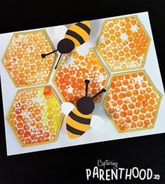 Discover recipes, home ideas, style inspiration and other ideas to try. Bee Crafts For Kids, Summer Crafts For Toddlers, Craft Activities For Kids, Toddler Crafts, Art For Kids, Spanish Activities, Indoor Activities, Family Activities, Bubble Wrap Crafts