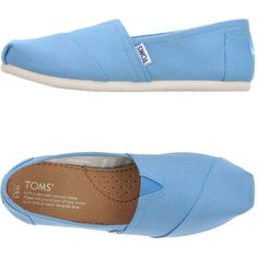 Toms Low-tops  Sneakers ($61) ❤ liked on Polyvore featuring shoes, sneakers, azure, toms sneakers, low top, tom trainer, toms footwear and low profile shoes