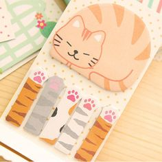 page multi-stile cute Sticker Bookmark Marker Memo Sticky Note adesivo Cute Sticker, Cute Office Supplies, Cat Paws, Kitty Cats, Unique Cats, Office Art, How To Make Notes, Sticky Notes, Cat Gifts