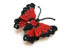 Macrame butterfly tutorial- Плетем яркую брошь