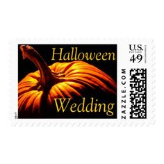 #Halloween Wedding Fall Wedding Invite Stamps - #Halloween #happyhalloween #festival #party #holiday