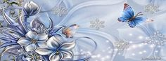 Winter Blue Butterflies Facebook Covers, Winter Blue Butterflies FB Covers, Winter Blue Butterflies Facebook Timeline Covers, Winter Blue Butterflies Facebook Cover Images