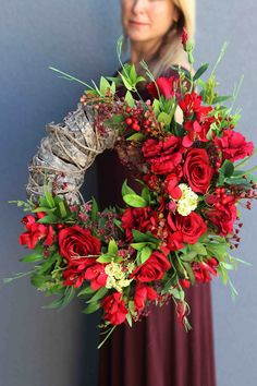 Funeral Flowers, Tis The Season, Floral Arrangements, Floral Design, Floral Wreath, Wreaths, Seasons, Holiday, Decor