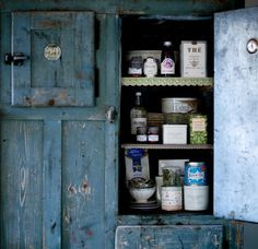 Gypsy Purple home. Country Cupboard, Antique Cupboard, Vintage Cabinet, Kitchen Cupboard, Cupboard Doors, Primitive Country, Kitchen Stuff, Country Kitchen, Country Living