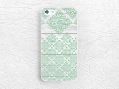 Mint Green Damask Wood print Phone Case for iPhone 6 iPhone 5s 5c, Sony z3 compact, LG g3 nexus 5, Moto x Moto g, HTC one M9, S6 edge -G25