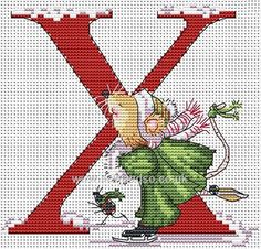 Buy+Seraphina+Alphabet+Letter+X+Cross+Stitch+Kit+Online+at+www.sewandso.co.uk