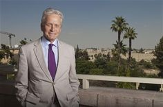 """Michael Douglas on accepting the """"Jewish Nobel Prize."""" He points that under strict religious law, the Oscar-winning actor isn't Jewish (his mother not being a Jew). He vows to use the $1 million Genesis Prize to build bridges between Israel and increasingly assimilated Jewish communities around the world. """"Abraham's tent had its flaps open....  approximately half of the Jewish population in the world is outside of Israel, we can find ways to better understand each other and to grow together."""""""