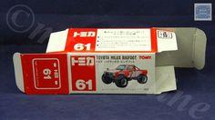 TOMICA 061D TOYOTA HILUX BIGFOOT   1/62   ORIGINAL BOX ONLY   ST5 1995 CHINA Toyota Hilux, Bigfoot, Diecast, Trucks, China, The Originals, Box, Snare Drum, Truck