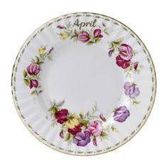 Royal Albert Flower of the Month April 20cm Plate
