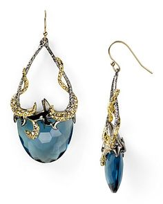Alexis Bittar Siyabonia Midnight Gunmetal Blue Drop Earrings | Bloomingdale's