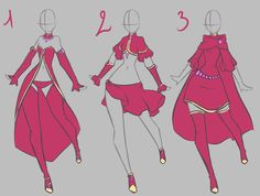 fairy clothes design by rika-dono on deviantART. I...I just...alkdjflskjf! So pretty!!! *dies* I MUST MAKE THE FAR RIGHT ONE!