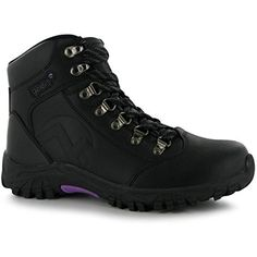 Womens Leather Walking Boots Outdoor Hiking Ankle High Laced Shoes Ladies >>> To view further for this item, visit the image link. (This is an affiliate link) #Outdoor