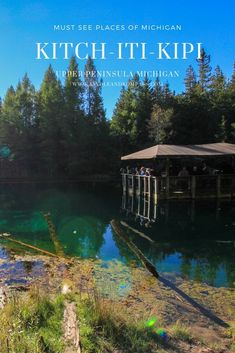 "Mirror Of Heaven : Big Spring aka ""Kitch-iti-kipi"" of the Michigan Upper Peninsula - Kindle & Kompass Michigan Vacations, Michigan Travel, Beach Vacations, Us Travel Destinations, Places To Travel, Places To Go, Fiji Travel, Travel Usa, Beach Photography Friends"