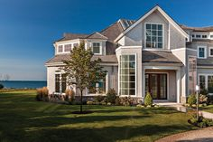 Beautiful home on Seaview Ave in the charming village of Osterville is for sale for $19.5 million. Built in 2014 overlooking Nantucket Sound this 3.4 acre estate with guest house is missing nothing.  #ostervillehomes #capecodrealestate #capecodhomes www.capecodrelo.com